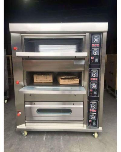 Oven, Three Deck 6 Tray