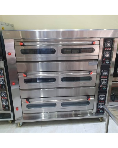Oven, Three Deck 9 Tray